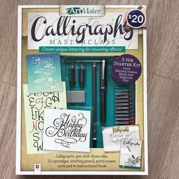 ArtMaker Calligraphy Masterclass, calligraphy set